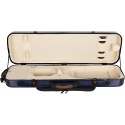 Oblong violin case Fiberglass Oblong 4/4 M-case Navy Blue - Cream