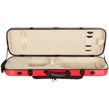 Oblong violin case Fiberglass Oblong 4/4 M-case Red - Cream