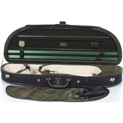 Geigenkoffer Schaumstoff Classic 4/4 M-case Schwarz - Grün