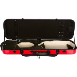 Oblong violin case Fiberglass Oblong 4/4 M-case Red - Green