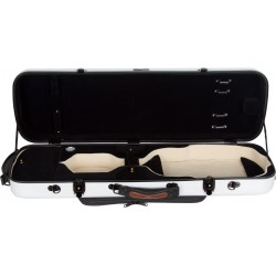 Oblong violin case Fiberglass Oblong 4/4 M-case White - Black