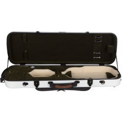 Oblong violin case Fiberglass Oblong 4/4 M-case White - Green