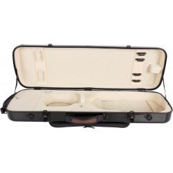 Oblong violin case Fiberglass Oblong 4/4 M-case Black - Cream