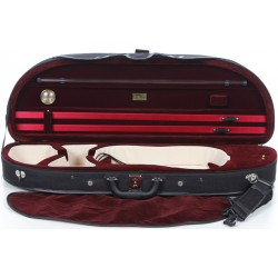 Foam violin case Classic 4/4 M-case Black - Burgundy