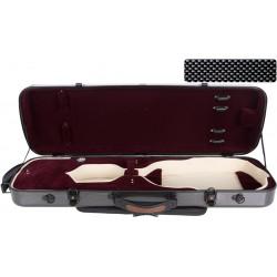 Étui pour violon en fibre de verre Fiberglass Oblong 4/4 M-case Noir Point - Bordeaux