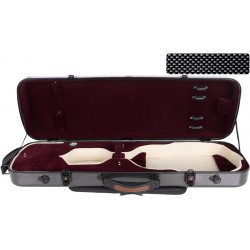 Oblong violin case Fiberglass Oblong 4/4 M-case Black Point - Burgundy