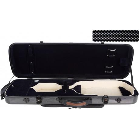 Oblong violin case Fiberglass Oblong 4/4 M-case Black Point - Navy Blue