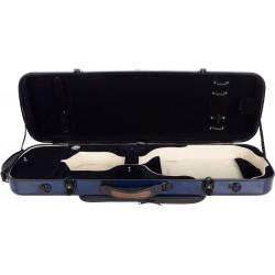 Étui pour violon en fibre de verre Fiberglass Oblong 4/4 M-case Bleu Marine - Bleu Marine