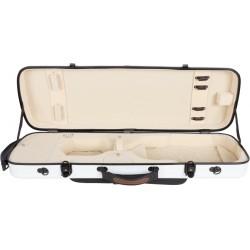 Étui pour violon en fibre de verre Fiberglass Oblong 4/4 M-case Blanc - Créme