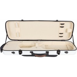 Violinkoffer Geigenkasten Glasfaser Oblong 4/4 M-case Weiß - Creme