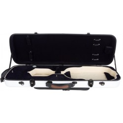 Oblong violin case Fiberglass Oblong 4/4 M-case White - Navy Blue