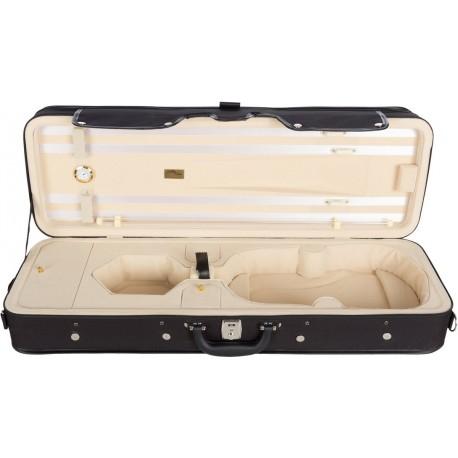 Violinkoffer Geigenkasten Geigenkoffer Schaumstoff City 4/4 M-case Creme