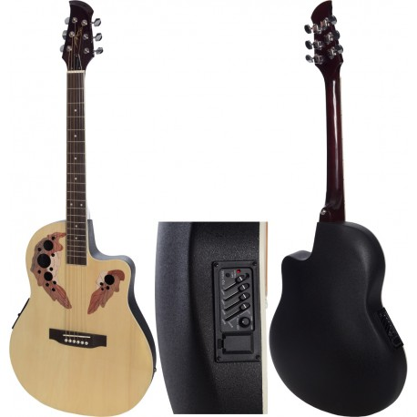"Electro acoustic guitar 4/4 Ovation 41"" M-tunes MTFO229CE"
