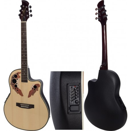 "Electro acoustic guitar 4/4 Ovation 41"" M-tunes MTFO29CE"