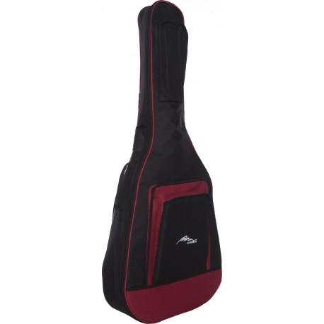 Acoustic guitar cover Premium 4/4 M-case Burgundy