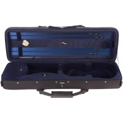 Foam violin case City 4/4 M-case Black - Navy Blue