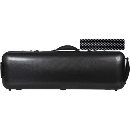 Fiberglass violin case Safe Oblong 4/4 M-case Black Point