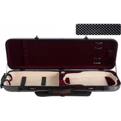 Étui en fibre de verre Fiberglass pour violon Safe Oblong 4/4 M-case Noir Point - Bordeaux