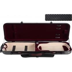 Étui en fibre de verre Fiberglass pour violon Safe Oblong 4/4 M-case Noir Point - Bordeaux