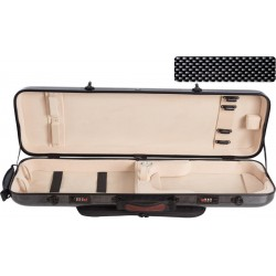 Fiberglass violin case Safe Oblong 4/4 M-case Black Point - Cream
