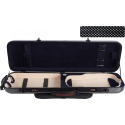 Fiberglass violin case Safe Oblong 4/4 M-case Black Point - Navy Blue