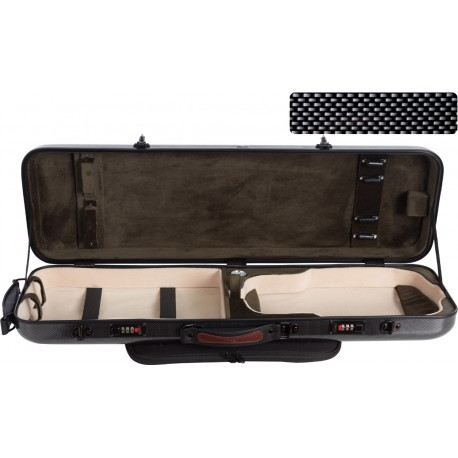 Fiberglass violin case Safe Oblong 4/4 M-case Black Point - Olive