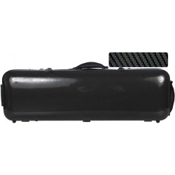 Fiberglass violin case Safe Oblong 4/4 M-case Black Special