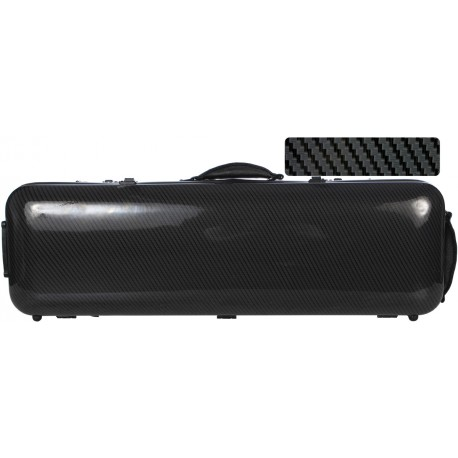 Fiberglass violin case Safe Oblong 4/4 M-case Black Special