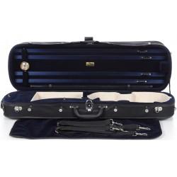 Geigenkoffer Holz Classic 4/4 M-case Schwarz - Marineblau