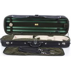 Geigenkoffer Holz Classic 4/4 M-case Schwarz - Grün