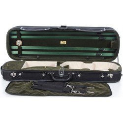 Oblong Violin Hard Case Classic 4/4 M-case Black - Green