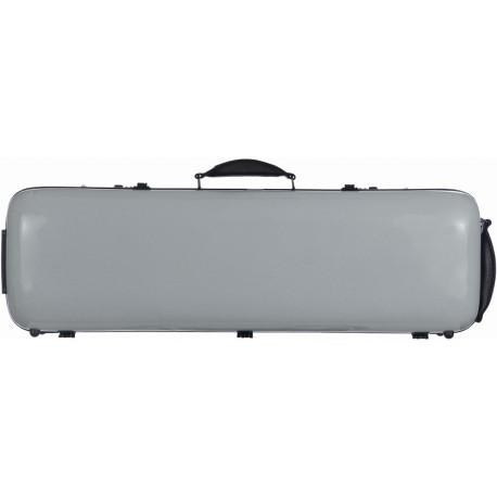 Fiberglass violin case Safe Oblong 4/4 M-case Silver