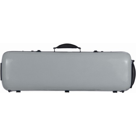 Geigenkoffer Glasfaser Safe Oblong 4/4 M-case Silbern