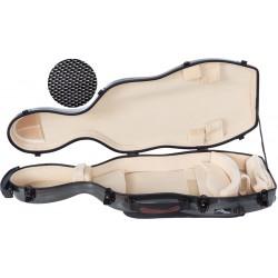 Fiberglass futerał altówkowy altówka UltraLight 38-43 M-case Czarny Point - Kremowy