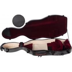 Étui pour alto en fibre de verre Fiberglass UltraLight 38-43 M-case Noir Point - Bordeaux