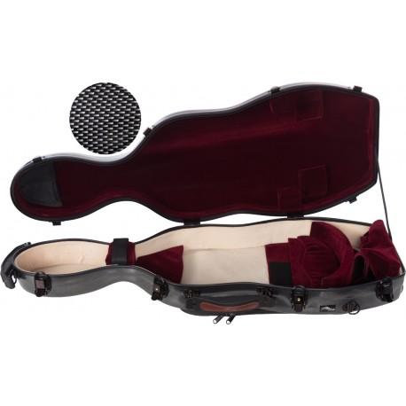 Fiberglass viola case UltraLight 38-43 M-case Black Point - Burgundy