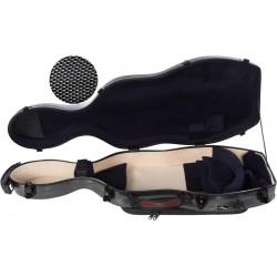 Étui pour alto en fibre de verre Fiberglass UltraLight 38-43 M-case Noir Point - Bleu Marine