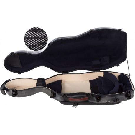 Fiberglass viola case UltraLight 38-43 M-case Black Point - Navy Blue