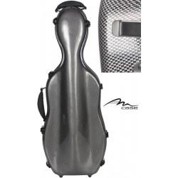 Étui pour alto en fibre de verre Fiberglass UltraLight 38-43 M-case Aspect Carbone