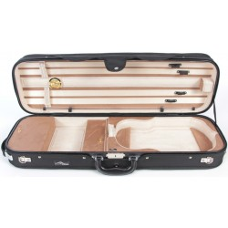 Oblong Violin Hard Case DeLux 4/4 M-case Black - Beige