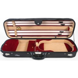 Oblong Violin Hard Case DeLux 4/4 M-case Black - Burgundy