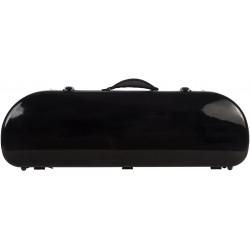Half moon violin case Fiberglass Street 4/4 M-case Black