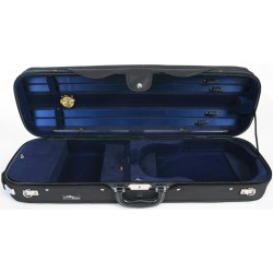 Oblong Violin Hard Case DeLux 4/4 M-case Black - Navy Blue