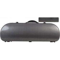 Violinkoffer Geigenkasten Glasfaser Street 4/4 M-case Carbon Looking