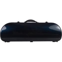 Half moon violin case Fiberglass Street 4/4 M-case Navy Blue
