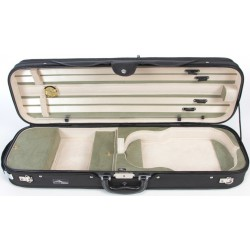 Oblong Violin Hard Case DeLux 4/4 M-case Black - Olive