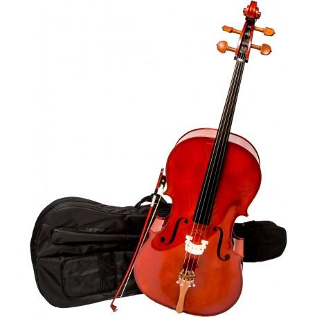 Cello 3/4 M-tunes No.150 hölzern - spielbereit
