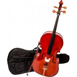 Violoncelle 1/4 M-tunes No.150 en bois - pour les étudiants