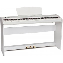 Piano numérique portable M-tunes mtP-9wh Blanc