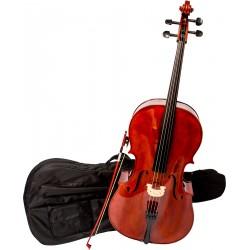 Cello 3/4 M-tunes No.200 hölzern - spielbereit + Profi
